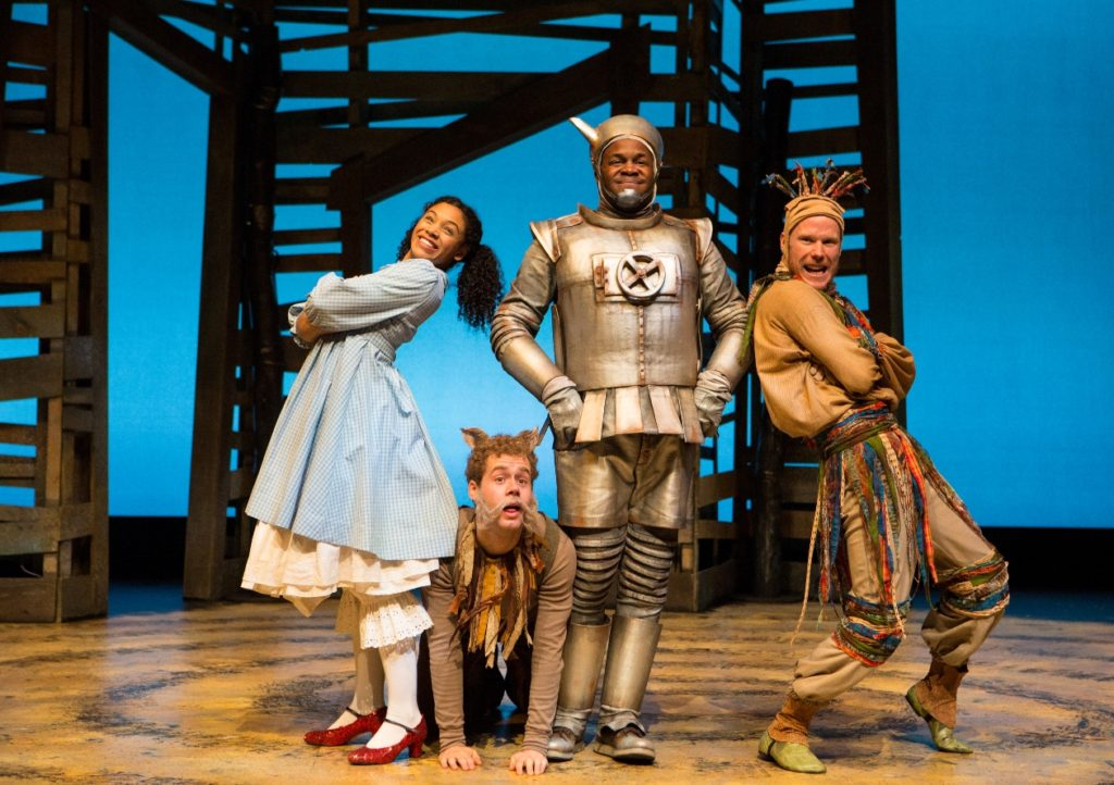 Vanessa Sears, Nathan Carroll, Matthew G. Brown and David Coomber in a scene from YPT's The Wizard of Oz; photo by Cylla von Tiedemann
